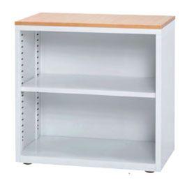 オープンミニキャビネット 天板木製 オープン書庫 キャビネット 書庫 スチール