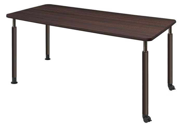 昇降テーブル 昇降式テーブル 2本キャスター脚・2本固定脚タイプ W1600×D750 介護・福祉施設向け 2色あり