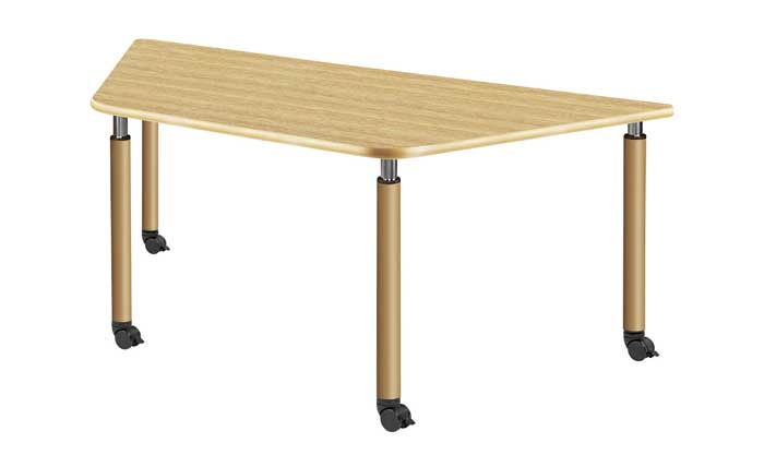 福祉施設向けテーブル 昇降テーブル 4本キャスター脚 Cタイプ UFT-9018C 2色あり