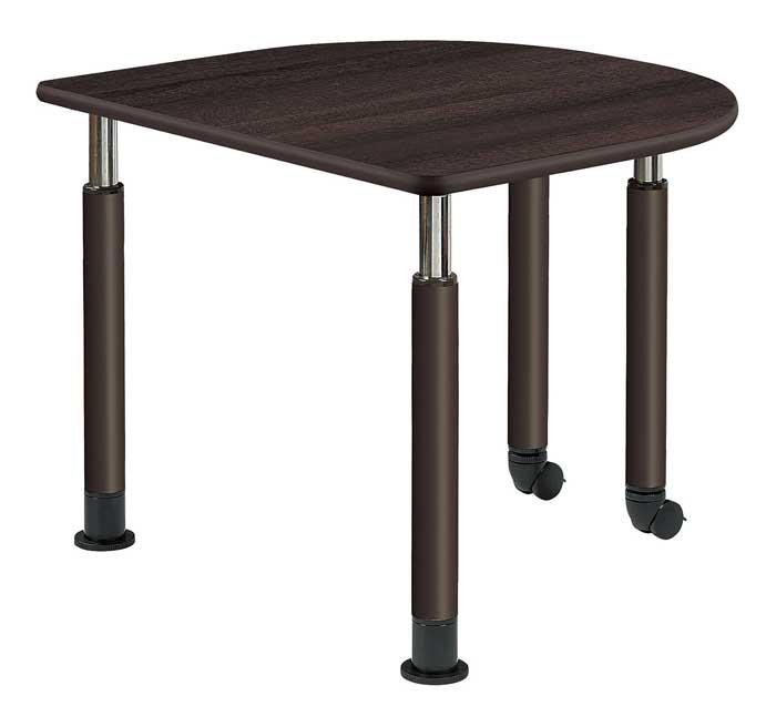 福祉施設向けテーブル 昇降テーブル 2本固定脚+2本キャスター脚 Bタイプ UFT-9080HB 2色あり