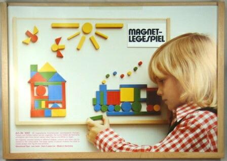 マグネットセット(大)木のおもちゃ 知育玩具 ニキティキ ボード モザイク 模様