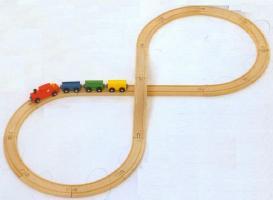MICKI 汽車セット8の字セット ミッキィ社 汽車セット 木製レール お気にいる 木のおもちゃ 木製 送料無料 汽車 知育玩具 セットアップ 出産祝いお誕生日 レール