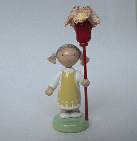 女の子と花の杖