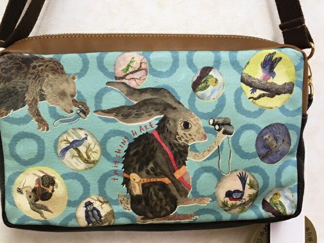 TUKURUカンパニー ショルダーバッグ・うさぎの青い世界 レザー 皮革 bag