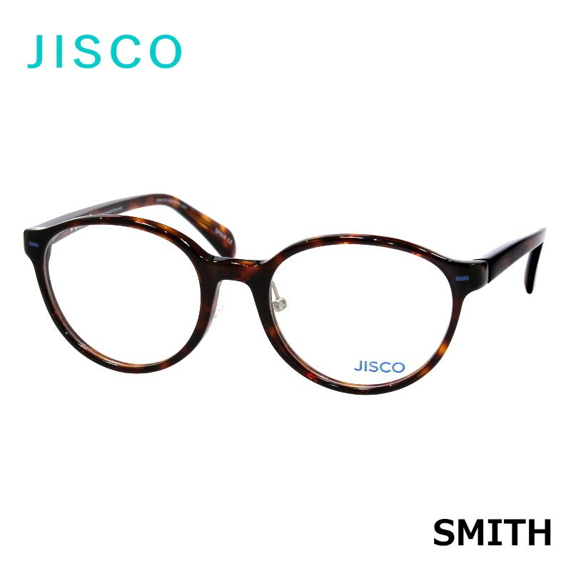 JISCO (ジスコ) SMITH AHV べっ甲柄 ブラウンデミ ボストン型 伊達メガネ/度付/PCメガネなどに!