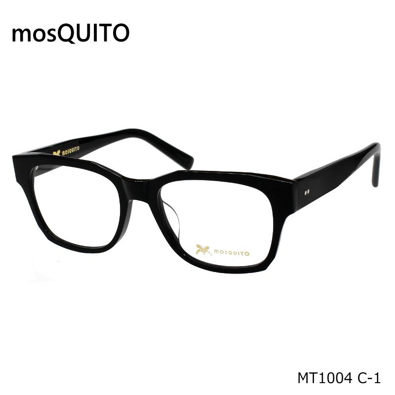 mosQUITO(モスキート)MT1004 C-1 ブラック 度無し伊達メガネやPCメガネに