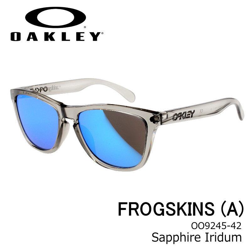 OAKLEY (オークリー) FROGSKINS (A) Sapphire Iridum/GREY INK グレイインク アジアンフィット フロッグスキン ユニセックス ブルーミラー oo924542