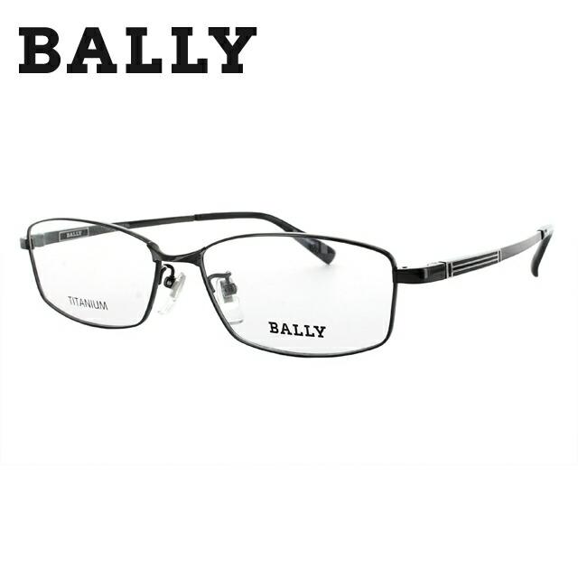 【選べる無料レンズ → PCレンズ・伊達レンズ・老眼鏡レンズ・カラーレンズ】 バリー メガネフレーム BALLY BY3017J 3 56 ブラック 調整可能ノーズパッド