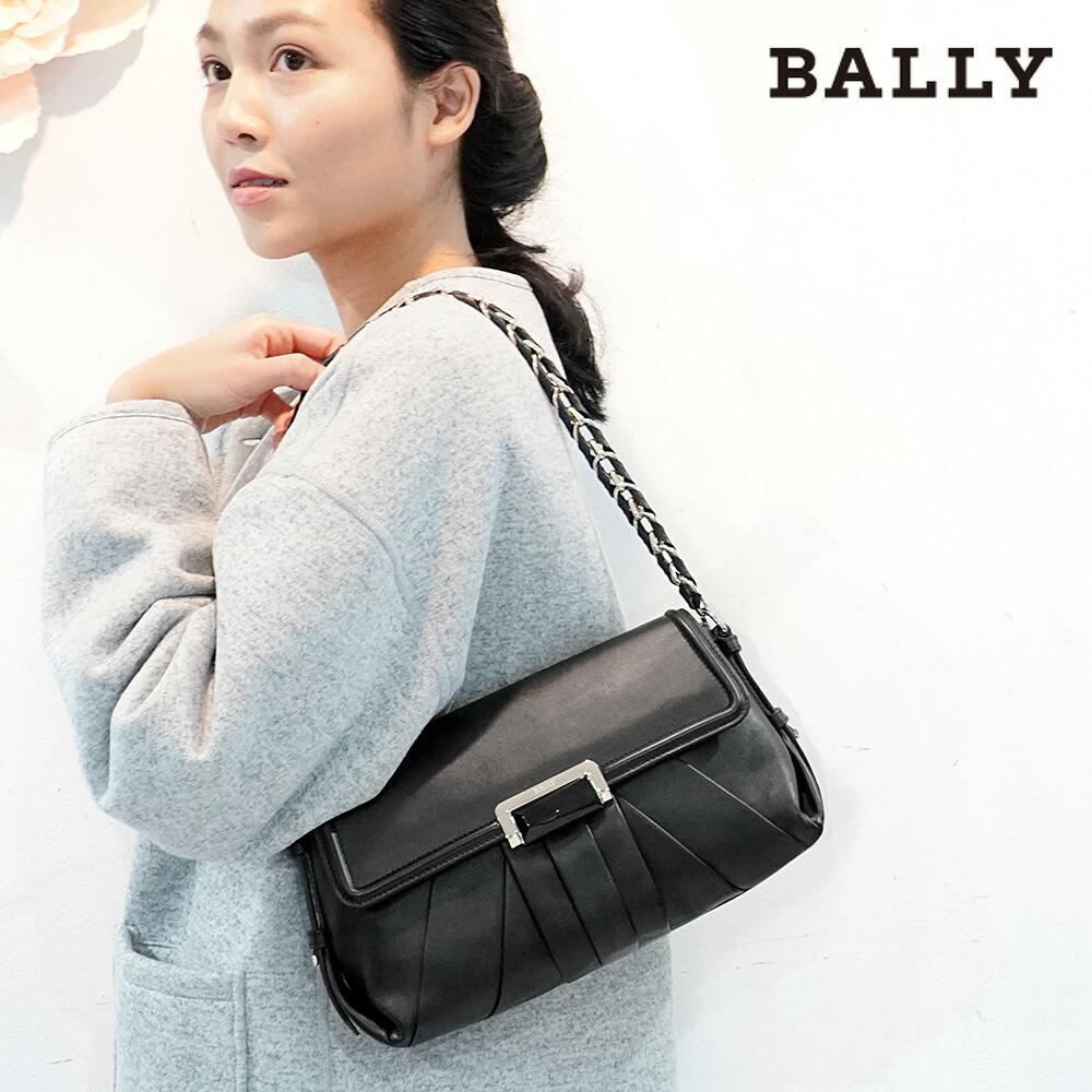 バリー BALLY ショルダーバッグ 6180615 CICILE-SM.P/00 Black ブラック レディース 革 カーフレザー