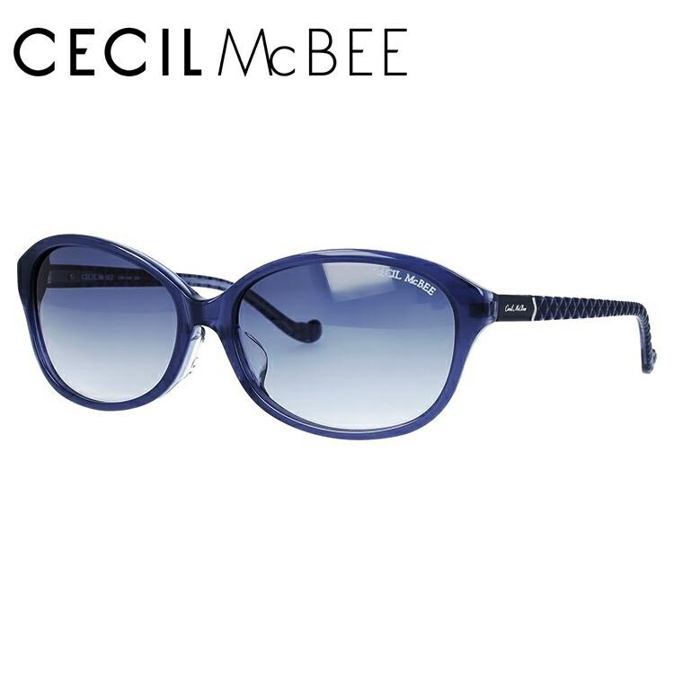 セシルマクビー サングラス アジアンフィット CECIL McBEE CMS 1048-3 59サイズ オーバル レディース