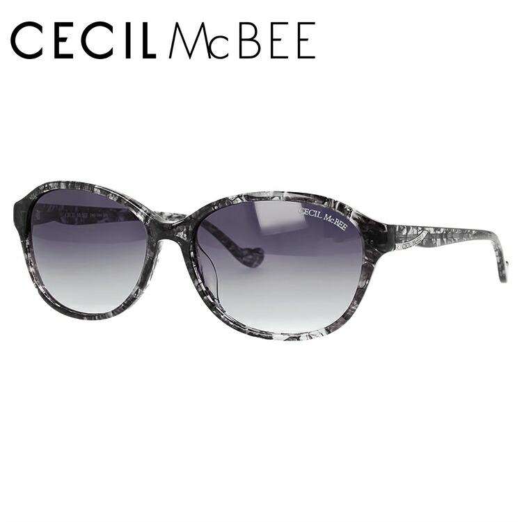セシルマクビー サングラス アジアンフィット CECIL McBEE CMS 1049-1 57サイズ オーバル レディース
