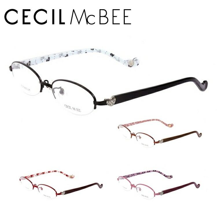 【選べる無料レンズ → PCレンズ・伊達レンズ・老眼鏡レンズ】 セシルマクビー メガネフレーム CECIL McBEE CMF3007-1/CMF3007-2/CMF3007-3/CMF3007-4 レディースブランド