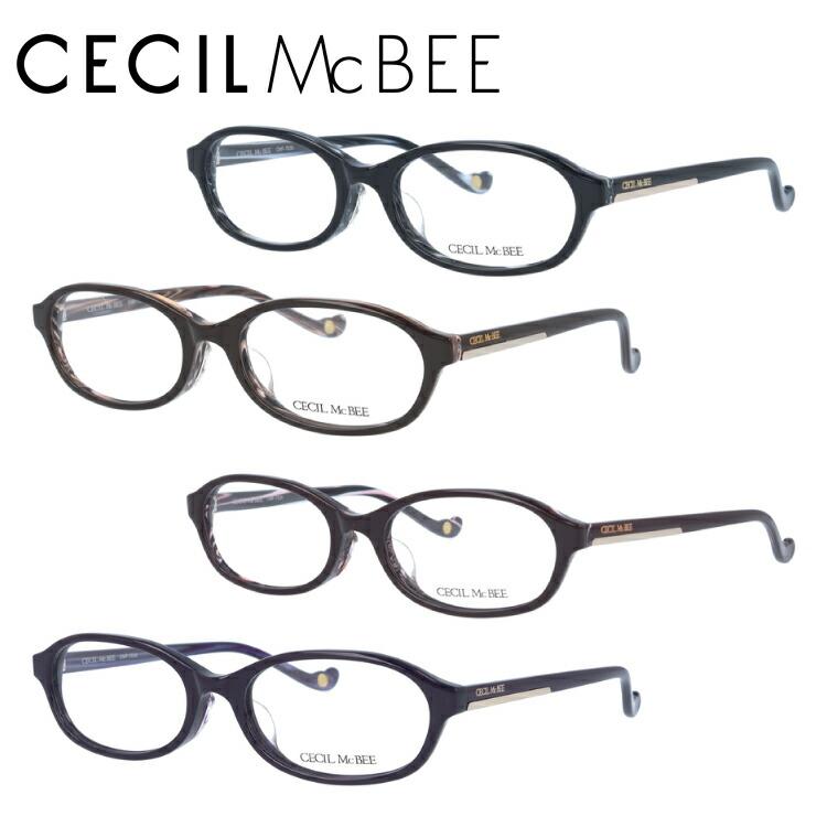 【選べる無料レンズ → PCレンズ・伊達レンズ・老眼鏡レンズ】セシルマクビー メガネフレーム 伊達メガネ アジアンフィット CECIL McBEE CMF7038 全4カラー 52サイズ オーバル ユニセックス メンズ レディース
