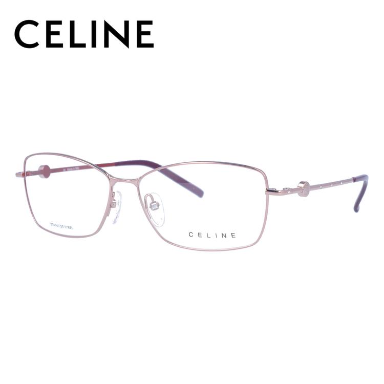 【選べる無料レンズ → PCレンズ・伊達レンズ・老眼鏡レンズ】 セリーヌ メガネフレーム ブルーライトカットフレーム CELINE VC1243S 55サイズ 0SE2 レディース UVカット 【ケース付き】