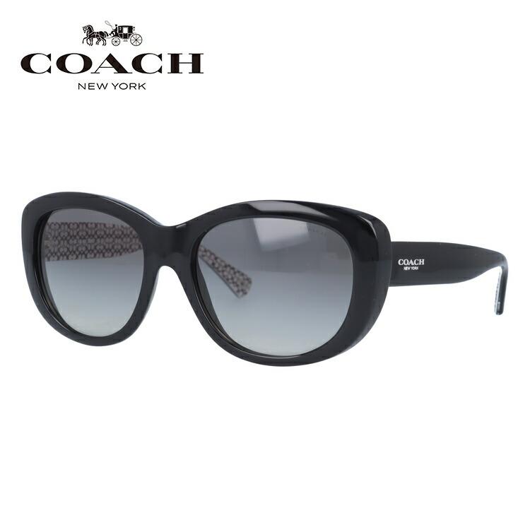 コーチ サングラス COACH HC8083 521411 55 ブラック/グレーグラデーション L071 Darcy レディース 国内正規品 UVカット