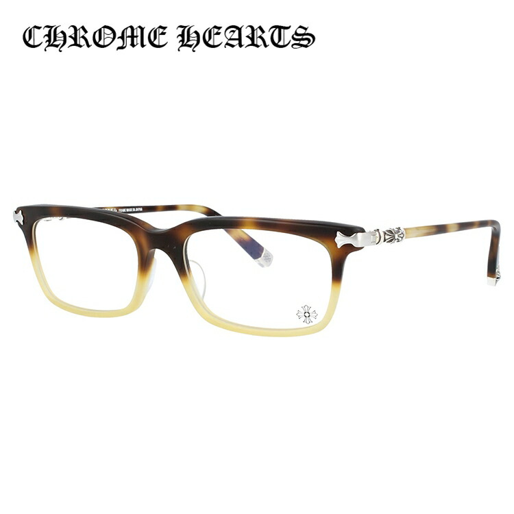 【選べる無料レンズ → PCレンズ・伊達レンズ・老眼鏡レンズ・カラーレンズ】 クロムハーツ メガネフレーム アジアンフィット CHROME HEARTS FUN HATCH-A MIT 54サイズ スクエア ユニセックス メンズ レディース