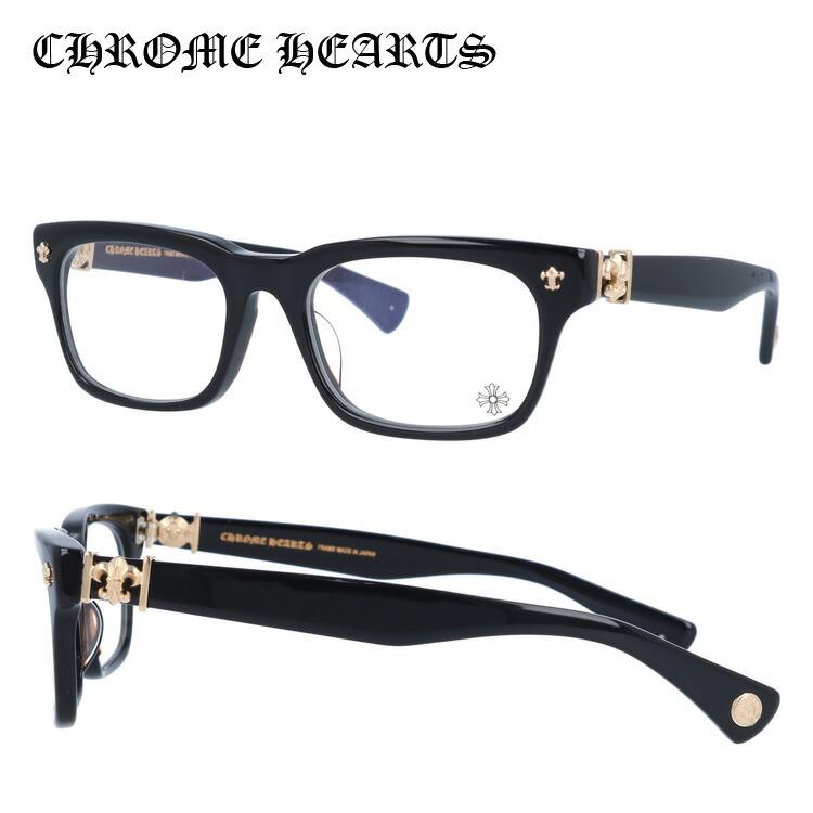 【選べる無料レンズ → PCレンズ・伊達レンズ・老眼鏡レンズ】 クロムハーツ メガネフレーム アジアンフィット CHROME HEARTS GITTIN ANY?-A BK-GP 52サイズ スクエア ユニセックス メンズ レディース
