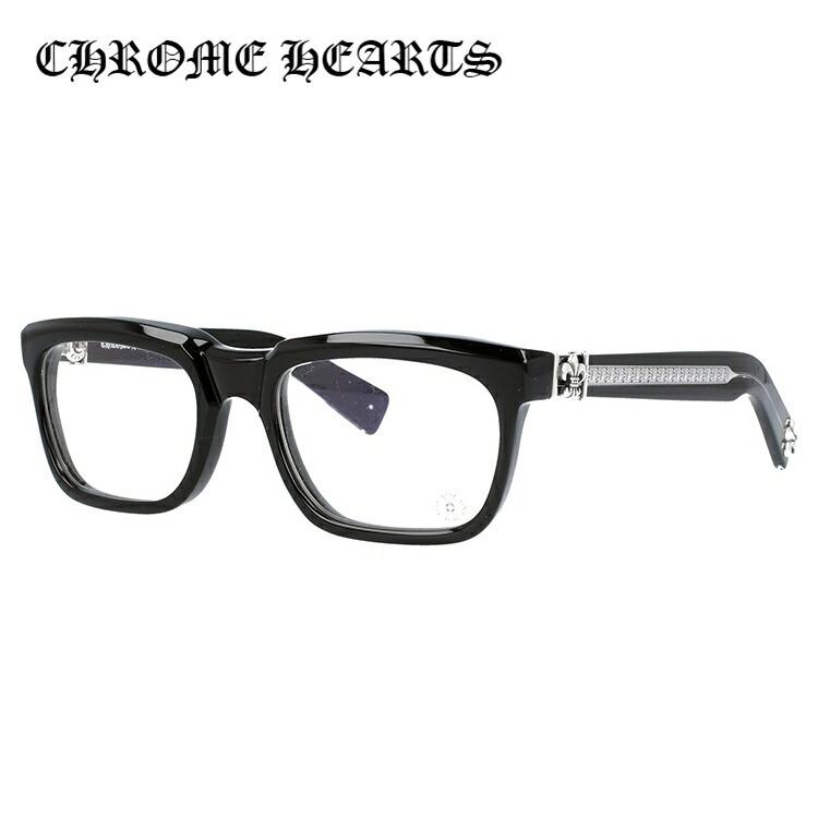 【選べる無料レンズ → PCレンズ・伊達レンズ・老眼鏡レンズ・カラーレンズ】 クロムハーツ メガネフレーム レギュラーフィット CHROME HEARTS SEE YOU IN TEA BK 53サイズ スクエア ユニセックス メンズ レディース