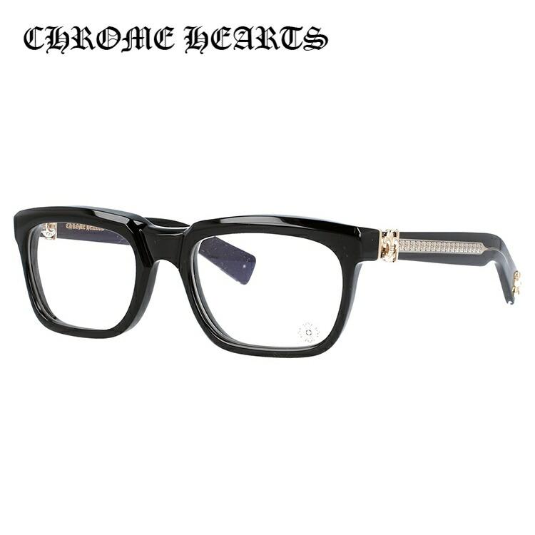 【選べる無料レンズ → PCレンズ・伊達レンズ・老眼鏡レンズ・カラーレンズ】 クロムハーツ メガネフレーム レギュラーフィット CHROME HEARTS SEE YOU IN TEA BK-GP 53サイズ スクエア ユニセックス メンズ レディース