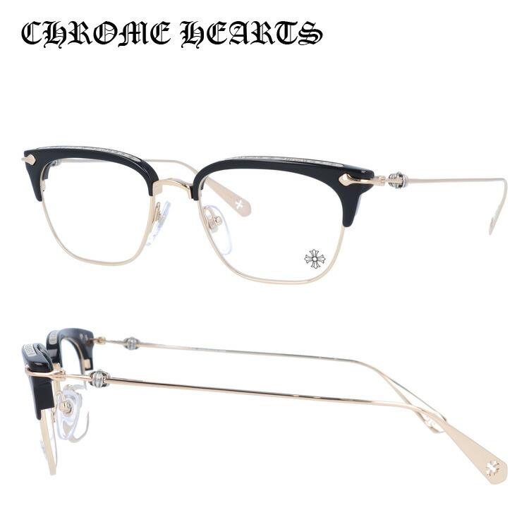 【選べる無料レンズ → PCレンズ・伊達レンズ・老眼鏡レンズ・カラーレンズ】 クロムハーツ メガネフレーム CHROME HEARTS SLUNTRADICTION BK/GP 52サイズ ブロー ユニセックス メンズ レディース