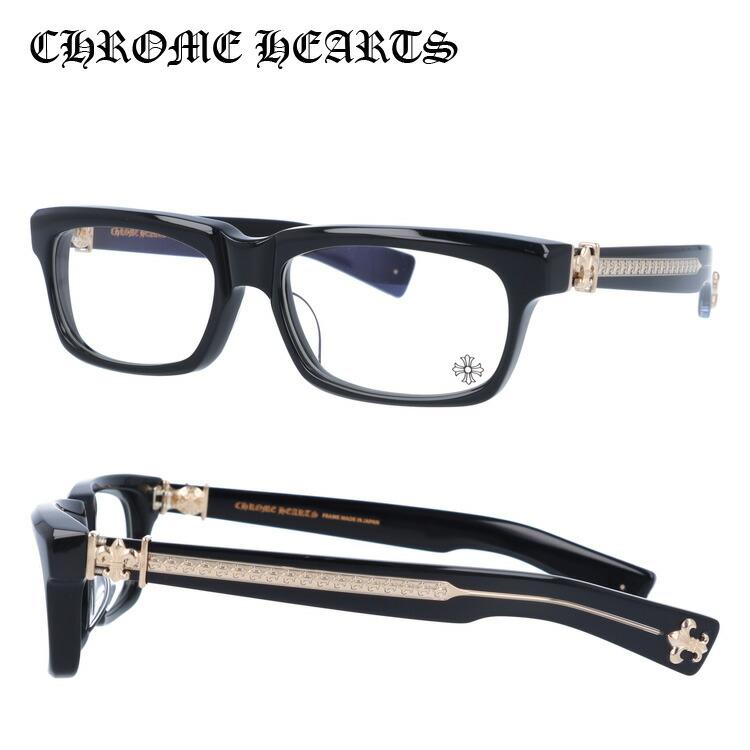 【選べる無料レンズ → PCレンズ・伊達レンズ・老眼鏡レンズ・カラーレンズ】 クロムハーツ メガネフレーム アジアンフィット CHROME HEARTS SPLAT-A BK-GP 55サイズ スクエア ユニセックス メンズ レディース
