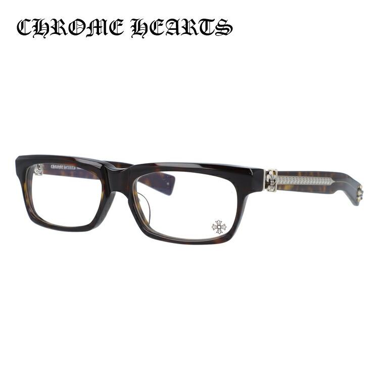 【選べる無料レンズ → PCレンズ・伊達レンズ・老眼鏡レンズ・カラーレンズ】 クロムハーツ メガネフレーム アジアンフィット CHROME HEARTS SPLAT-A DT 55サイズ スクエア ユニセックス メンズ レディース