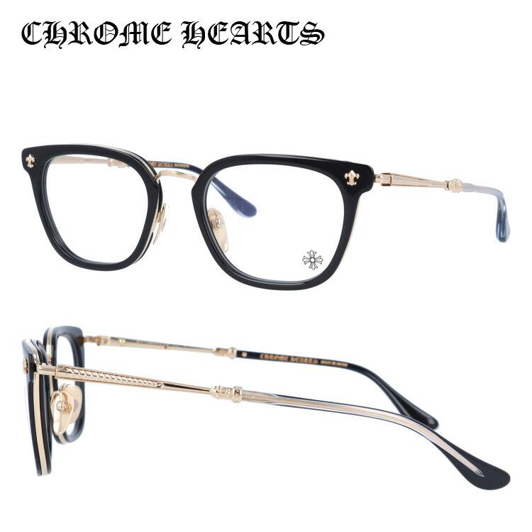 【選べる無料レンズ → PCレンズ・伊達レンズ・老眼鏡レンズ・カラーレンズ】 クロムハーツ メガネフレーム CHROME HEARTS STRAPADICTOME BK/GP 51サイズ スクエア ユニセックス メンズ レディース