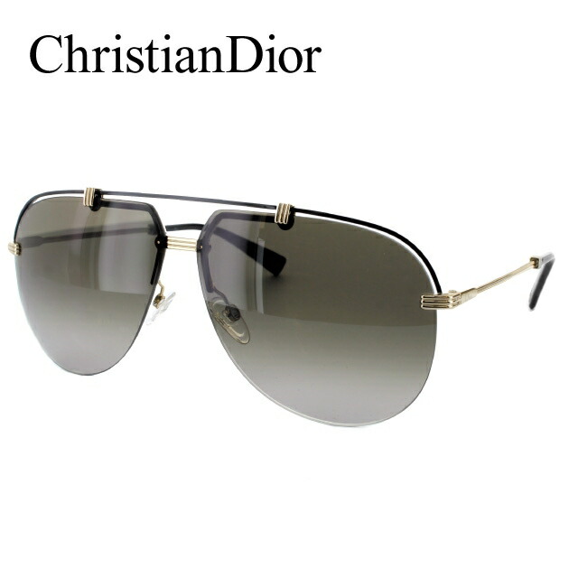 【訳あり】クリスチャン・ディオール サングラス Christian Dior DIOR CROISETTE4 DYD/HA 62 ゴールド/ブラック ノーズパッド調節可能 レディース UVカット 新品