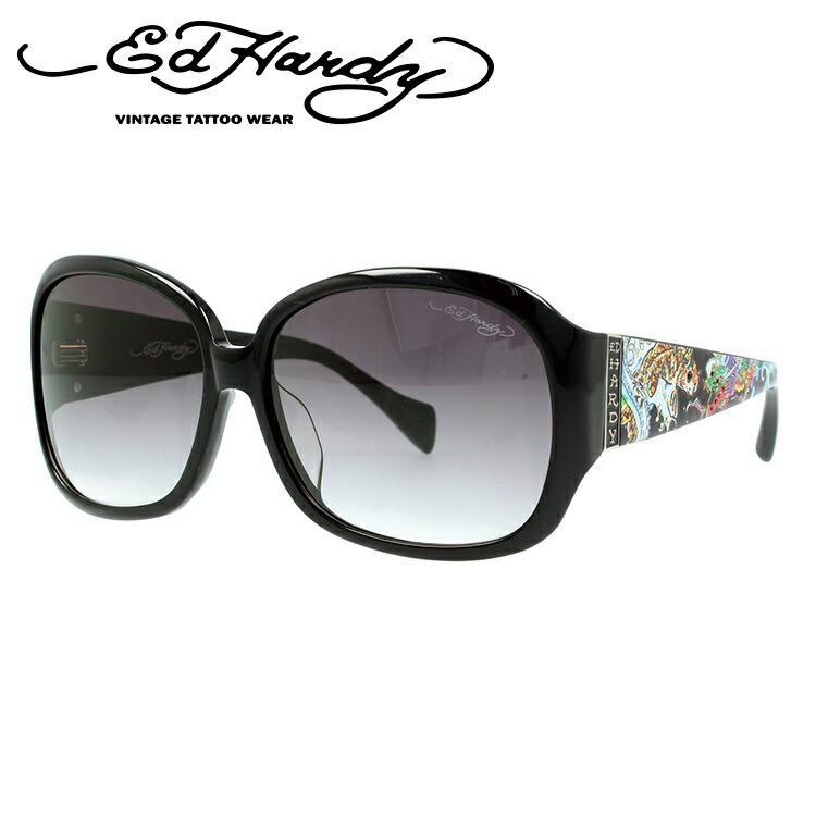 エドハーディー サングラス EDHARDY コイ レアピン & ドラゴン KOI LEAPING&DRAGON BLACK ブラック メンズ レディース UVカット 新品