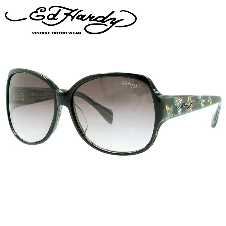 エドハーディー サングラス EDHARDY バタフライズ BUTTERFLIES 2 BLACK メンズ レディース UVカット 新品