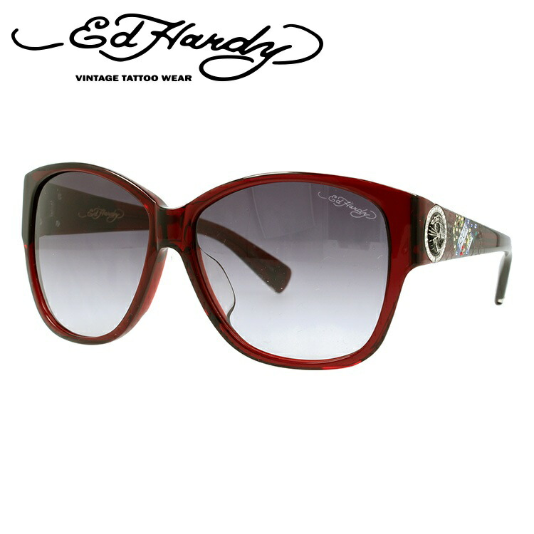 エドハーディー サングラス EDHARDY タイガー 2 TIGER 2 RED メンズ レディース UVカット 新品