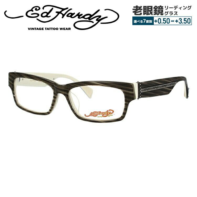 【選べる無料レンズ → PCレンズ・伊達レンズ・老眼鏡レンズ・カラーレンズ】 エドハーディー メガネフレーム EdHardy EHOA004 4 GREY HAZEL グレーハゼル メンズ レディース UVカット