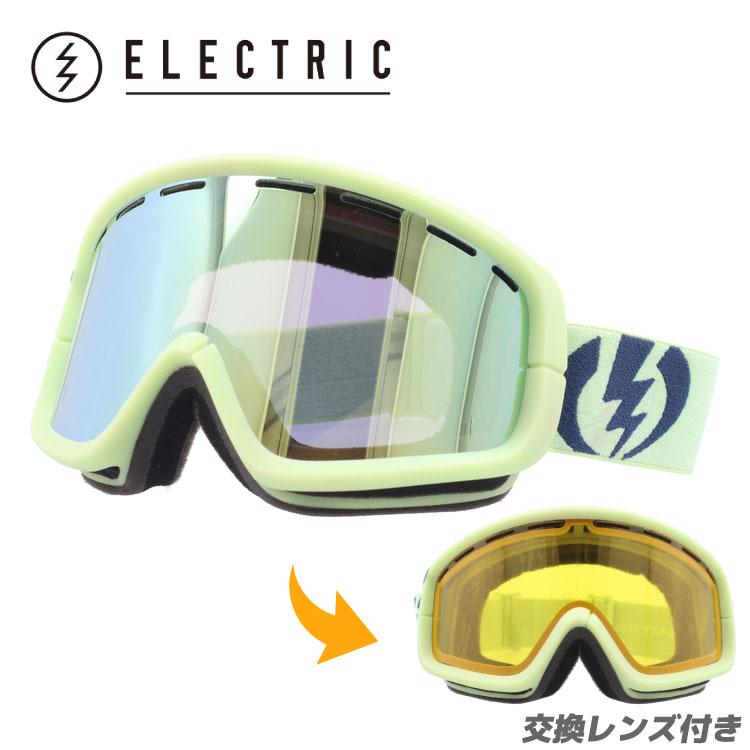 ELECTRIC エレクトリック ゴーグル スノーゴーグル EG1012400 GGDC EGB2 ALLIED GREEN/GREY/GOLD CHROME スキー スノーボード ウィンタースポーツ ボーナスレンズ付き GOGGLE UVカット
