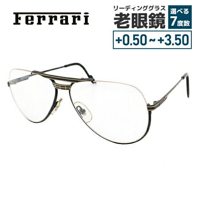 【選べる無料レンズ → PCレンズ・伊達レンズ・老眼鏡レンズ】 フェラーリ メガネフレーム Ferrari F3/I 587 58サイズ メンズ UVカット