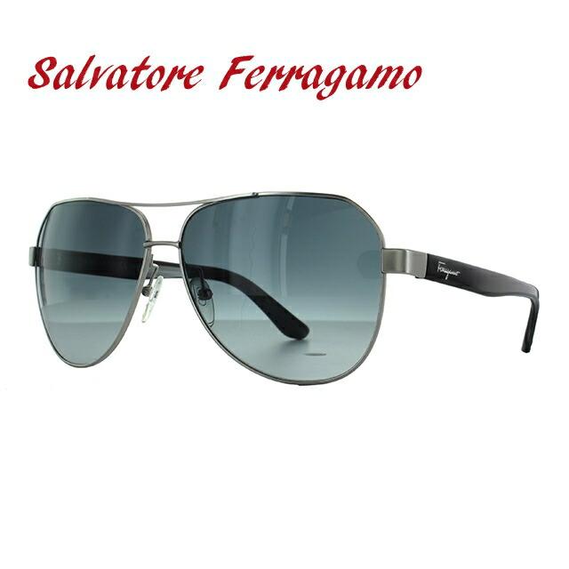 サルヴァトーレ フェラガモ サングラス Salvatore Ferragamo SF138SA-029 59 マットシルバー/ブラック アジアンフィット レディース 女性 UVカット