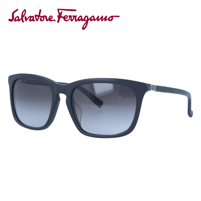 サルヴァトーレ フェラガモ サングラス Salvatore Ferragamo SF743SA-002 56 マットブラック アジアンフィット レディース 女性 UVカット
