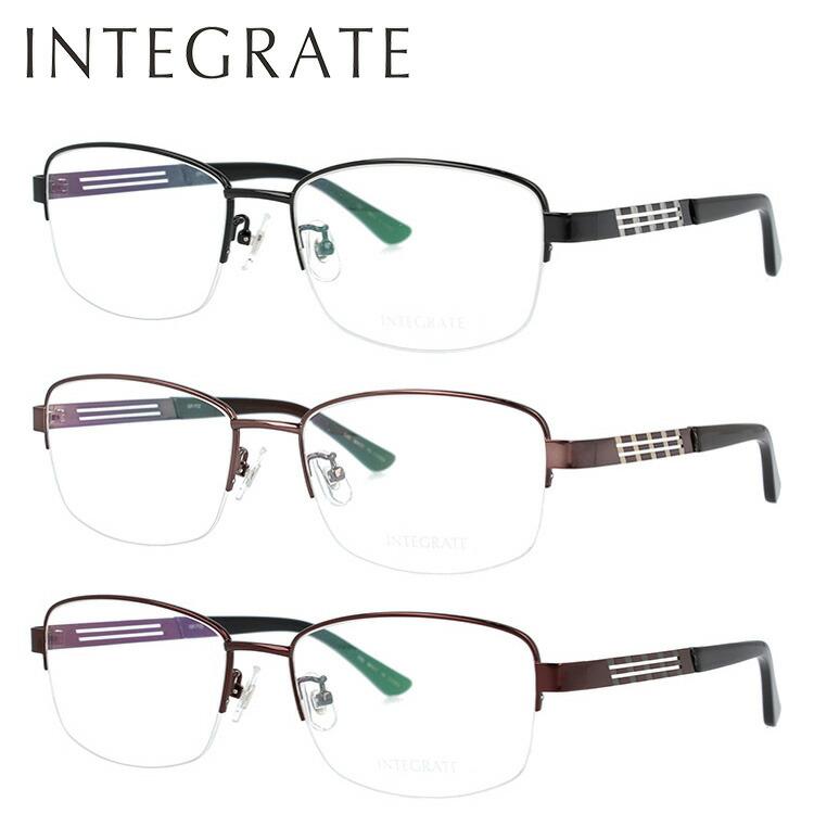 【選べる無料レンズ → PCレンズ・伊達レンズ・老眼鏡レンズ】インテグレート メガネフレーム 伊達メガネ INTEGRATE IGF7102 全3カラー 58サイズ スクエア ユニセックス メンズ レディース