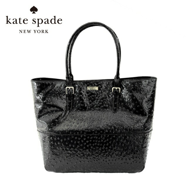 ケイトスペード トートバッグ kate spade PXRU3075-001 BLACK/CREAM/GOLD SHANNA