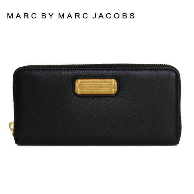 マークバイマークジェイコブス 財布 MARC BY MARC JACOBS 長財布 MBMJ M0005696 (M0005350) 001 Black ブラック New Q Slim Zip Around Color 001 レディース