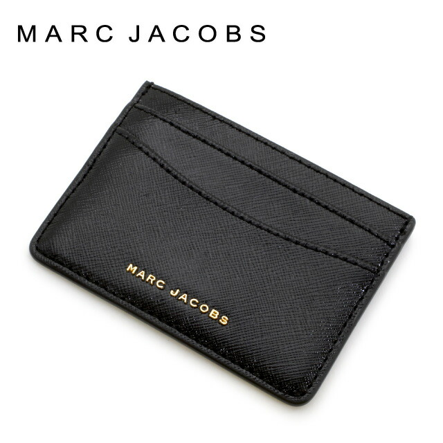 マークジェイコブス MARC JACOBS カードケース・名刺入れ SAFFIANO COLORBLOCKED SLGS サフィアノ M0012049-592 BLACK(ブラック)