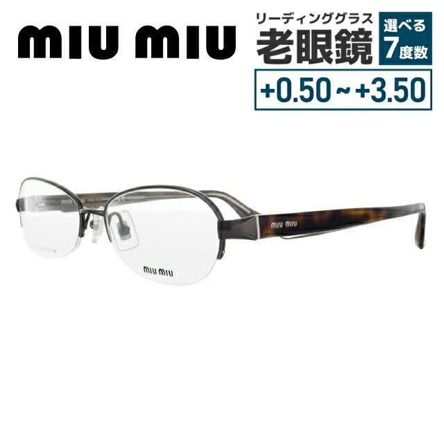【選べる無料レンズ → PCレンズ・伊達レンズ・老眼鏡レンズ】 ミュウミュウ メガネフレーム miumiu MU55IV ACD1O1 54 ブロンズ/ハバナ レディースブランド UVカット 国内正規品