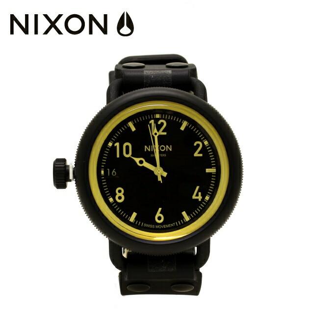 国内正規品 ニクソン NIXON 腕時計 NA4881354-00 NIXON OCTOBER: MATTE BLK/ORANGE TINT