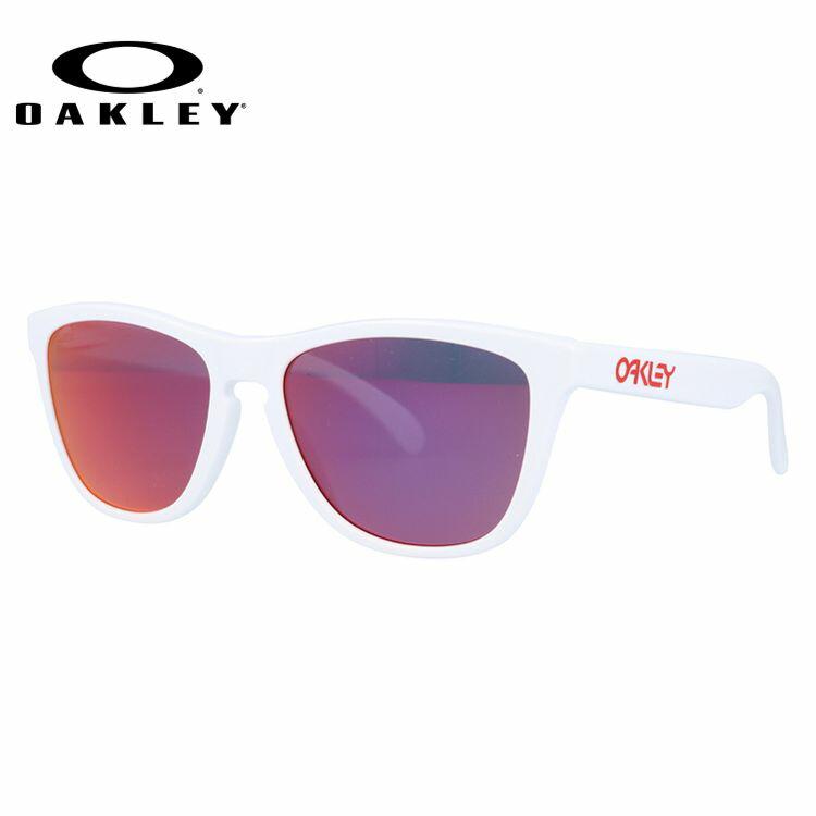 オークリー サングラス OAKLEY FROGSKINS フロッグスキン 24-307 Polished White/Ruby Iridium メンズ レディース スポーツ オークレー UVカット レギュラーフィット ミラーレンズ