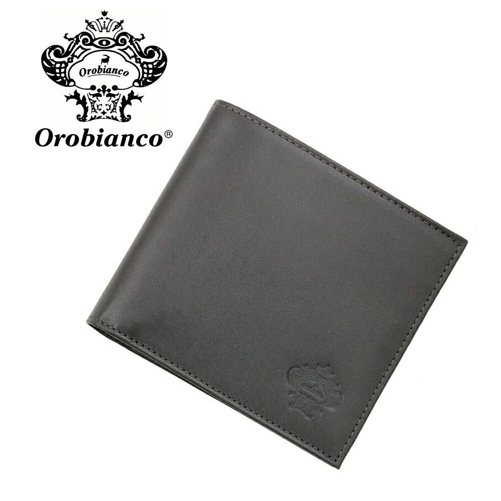 オロビアンコ 折財布 OROBIANCO PORTAFOGLIO ART 34-I 01VIT-GRIGIO-SCURO-13 GRIGIO (グレー) レザー 革