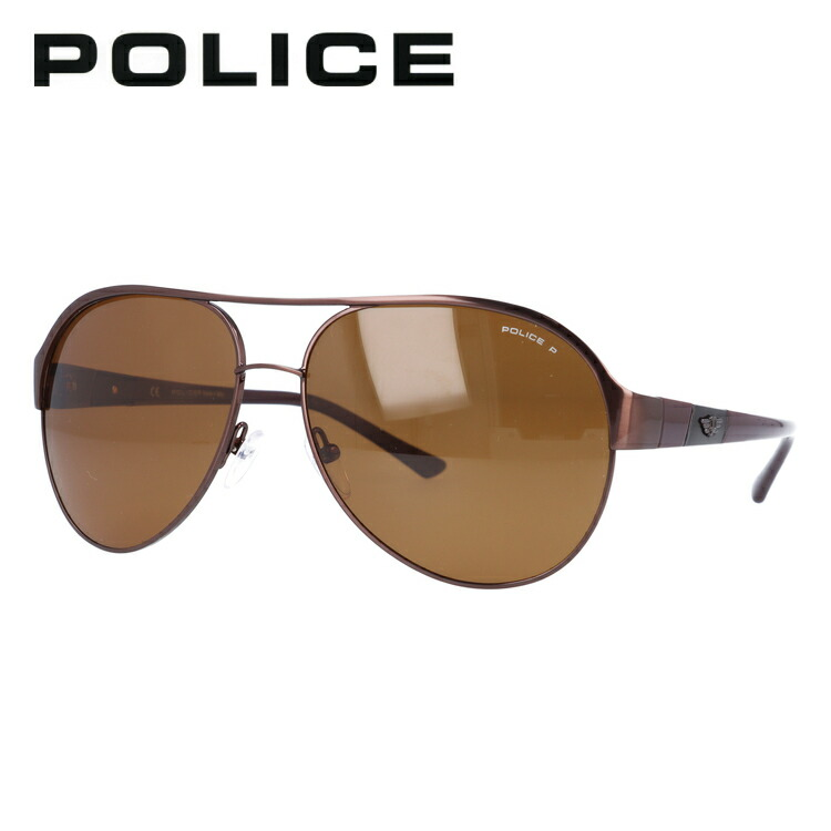 2e91183234 optica  Police sunglasses POLICE S8563C K05P metallic Brown   Brown ...