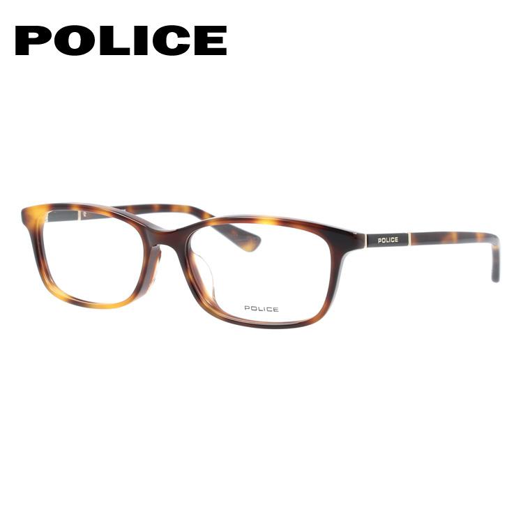 【選べる無料レンズ → PCレンズ・伊達レンズ・老眼鏡レンズ・カラーレンズ】ポリス メガネフレーム 伊達メガネ アジアンフィット POLICE VPLA11J 02BU 53サイズ スクエア ユニセックス メンズ レディース