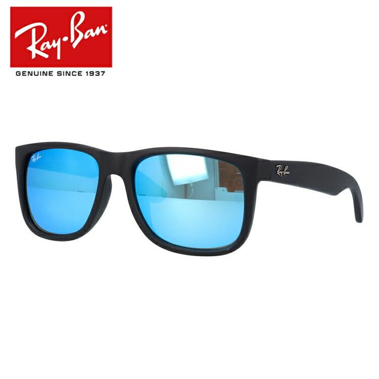 国内正規品 レイバン Ray-Ban サングラス RAYBAN ジャスティン JUSTIN RB4165F 622/55 54 ブラック/ブルーミラー フルフィット メンズ レディース ラバー UVカット
