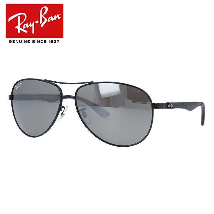 国内正規品 レイバン Ray-Ban サングラス RAYBAN テック カーボンファイバー TECH CARBON FIBRE RB8313 002/K7 61 ブラック/シルバーミラーポラライズド 偏光レンズ メンズ レディース UVカット