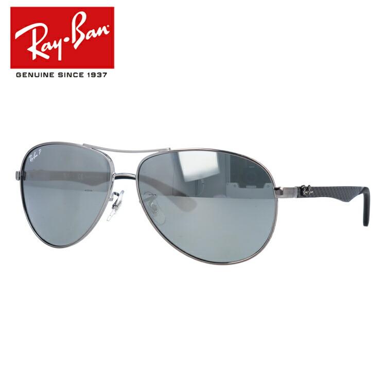 国内正規品 レイバン Ray-Ban サングラス RAYBAN テック カーボンファイバー TECH CARBON FIBRE RB8313 004/K6 61 シルバー/シルバーミラーポラライズド 偏光レンズ メンズ レディース UVカット
