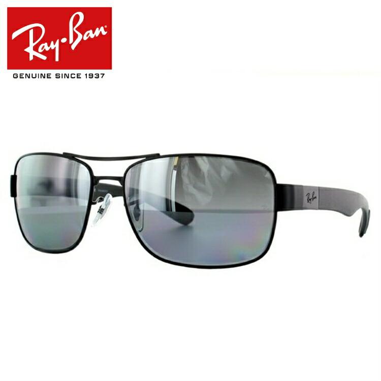 【送料無料】ラッピング無料 【海外正規品】レイバン Ray-Ban サングラス RB3522 006/82 64 マットブラック 偏光レンズ ミラーレンズ メンズ レディース Rayban UVカット 新品